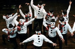 Frosty the Snowman dancers